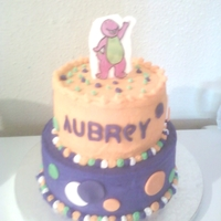 Aubreys Barney 3Rd Birthday Cake