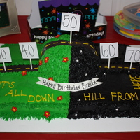 Over The Hill I found a few cakes similar to this on here and thought I would try it out for my Dad's 50th. Everyone LOVED the idea and the cake...