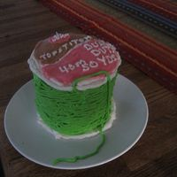 Spool Of Thread Cake This cake is for a girl who is just learning how to sew.