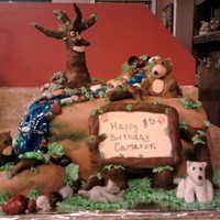 Great Wolf Lodge Theme Cake I did this cake for a friends son who was going to the Great Wolf Lodge in Texas. They wanted the woodlands type theme with the animals and...