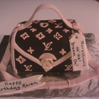 Purse Cake Louis Vuitton purse cake with Nordstroms price tag was done as a joke for client's sister. Chocolate cake with chocolate ganache...