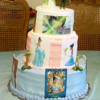 Princess And The Frog This cake is 6/8/12. All BC with edible image plaques. Made for a 5 yo little girl.