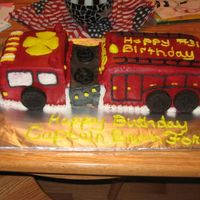 Fire Truck Iced with buttercream, first fire truck cake I made!!!