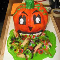 Puking Pumpkin 3 layer cake, everything is edible...TFL