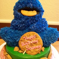 Cookie Monster Teddy bear mold with some modifications to it.