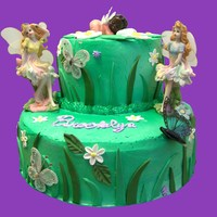 Fairy Baby Shower Cake Baby fairy with fairies and grass
