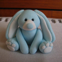 Blue Bunny This is my quick little bunny rabbit i made with some left over gumpaste i had. I'm not sure what to use him for in the future but I...