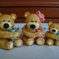 Family Of Teddy Bears These are the bears i have created so far that are going on plaques for the top of cakes (little one was my first test bear). All are...