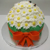 Daisy Cake Got the idea from several cake I saw here. They were too cute had to try it. decorated with MMF.