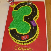 3Rd Birthday Cake Cake for my son who is obsessed with Cars. He loved it!