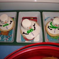 "Christmas Melting Snowman Cookie Inspired by other Cake Central Bakers, I wanted to enter this cookie at our Annual Cookie Exchange Party!!! My cookie won the ""Best..."