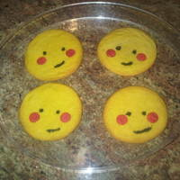 Ni Hao Kai Lan Sun Sugar Cookie Sugar Cookies made to look like the sun from Ni Hao Kai Lan cartoon
