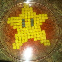 Mario Pixel Star Cookie Mario Pixel Star sugar cookie