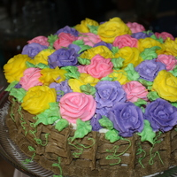 Spring Has Sprung~ This is my first attempt at this classic cake. I have only practiced the basket weave in one class before. I haven't had the...