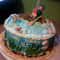 Fishing this was my first fondant person, good thing it was for my bff's hubby.. they loved it