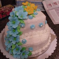 Class 3 Finale Cake My first tiered cake. This was my finale ckae for wilton class 3