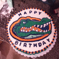 Florida Gators Birthday Cake All Buttercream. Mad this for my Dad's 59th Birthday. Been waiting awhile to make this and sooo happy with the way it came out!