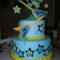 Rockstar Baby Shower Cake Made for a rockstar themed baby shower. Still having trouble with fondanting my cakes (but it is only my 2nd fondant cake). Im pretty...