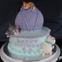 Kitty Cat Birthday Cake Made this cake for my mom's birthday. She loves cats. First time making fondant animals! Thanks to flourpot for the inspiration on the...