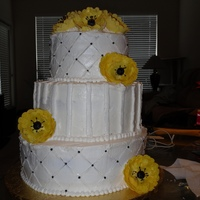 Wedding Cake 2 All buttercream. vanilla with raspberry filling. My second wedding cake. Had a complete cake disaster on the drive to the venue. Lost my...