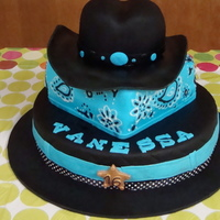 Cowboy Theme Cake For A Sweet Sixteen Party