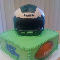 Philadelphia Eagles   This was my first attempt at a hand-carved helmet cake.