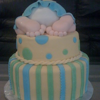 Baby Shower Cake   Thanks to everyone in CC who posted their baby shower pictures. This is a 10in and 8 in tier chocolate cake with chocolate filling.