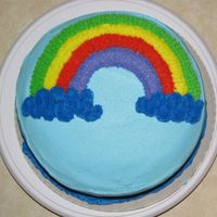 "Img_0096.jpg cake from my first wilton class, the ""rainbow"" cake"