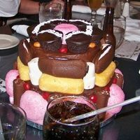 Twinkie Cake Groom loves snacks like twinkies, ding dongs, gushers etc...