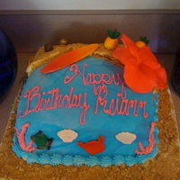Hawaiian Birthday This was made for my nieces 8th birthday.