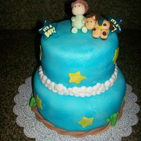 Baby Boy Cowboy Shower Cake