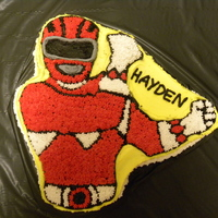 Red Power Ranger Cake This was my first character cake. Im not a millions of stars kind of decorator! I thought it was going to look awful but didnt turn out too...
