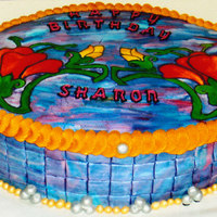 Jewelry Box Cake This cake is a jewelry box, that was hand painted for a very special lady.