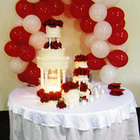 Stair Step Fountain Cake