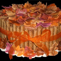 Fall Leaves Chocolate cake with caramel and pecan filing