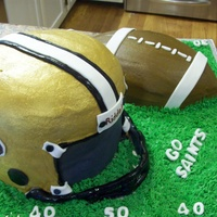 Football Cake Buttercream with Fondant Accents