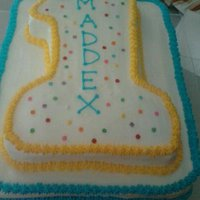1St Birthday Cake Made a cake for our friends' son Maddex :)
