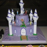 Tinker Bell Castle This cake was for my nieces 5th Birthday. She looooves purple and her current favorite is Tink :) Had fun making this cake. Thanks for...