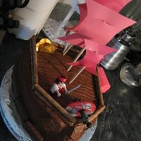 Pirate Ship I made this cake for my friend's daughter who insisted on a pirate ship cake. So, I attempted to do this for her... I had fun, and...