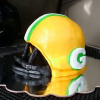 Green Bay Packer Helmet Many many props to everyone who has made one of these on here!Made this for the local Volunteer Fire Department's fundraiser. Had fun...