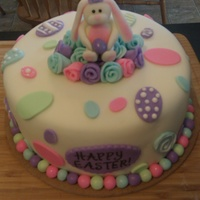 Bunnies And Flowers Carrot cake with cream cheese filling. All accents fondant.