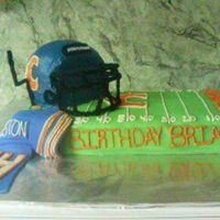 Go Chicago Bears! This cake was for a friend mines husband. It was his birthday and he loves the Chicago Bears. I think it turned out cute and our friends...