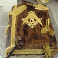Master Mason Working Tools Cake i made this for my husbands lodge. it was a master mason working toold cake. i did the masonic book(aged) and the working tools were out of...