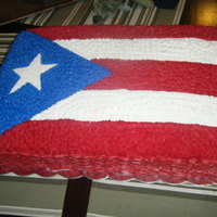 Puerto Rican Flag Puerto rican flag cake that I made for a friend of my mother in law