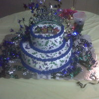 Happy New Year 2010 Not the best pic, I forgot my camera so I had to use my phone. For a last minute cake I think it turned out well.