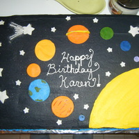 Solar System Cake I had a lot of fun with this one. It was alot easier to make than I expected.