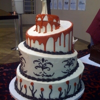 "Halloween Wedding Cake buttercream icing. royal icing ""blood"""