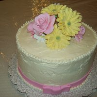 Spring Bouquet Lemon Cake with Lemon IMBC. Gumpaste flowers. TFL!!!
