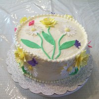 I'm Ready For Spring Lemon Cake with Lemon IMBC. Cake with fondant accents. Flowers are gumpaste. TFL!!