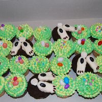 Bunny Butts! This is a cute idea that I found in a cupcake book. It is a little time consuming but lots of fun!